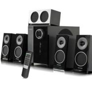 Microlab M-1910 5.1 Speakers/ 65W RMS (8Wx5+25W)/ Remote Control/ Optical, Coaxial, 3.5mm Stereo Inputs