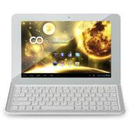 GOCLEVER TAB ORION 101 White with Bluetooth Keyboard-Stand-Cover with Battery/ 10.1&quot; IPS 10 Point Multi-Touch 1280x800/ Quad Core 1GHz, 2GB RAM, 16GB Flash/ Android 4.1 Jelly Bean/ Wi-Fi, Bluetooth 4.0/ 2 x Camera (0.3MP Front, 2MP Back)/ MicroSD, miniHDMI, microUSB OTG/ Stereo Speakers
