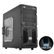 Cooler Master K(night) 350, Midl tower, black, with window, with USB 3.0 , black inside,  w/o PSU, mATX / ATX