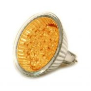 Activejet 2153Y,  21 LED bulb with GU5.3 mounting. Yelow light.12V Consumption: 1.7W Luminous Intencity:12 lm