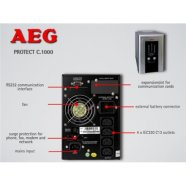 AEG UPS Protect.C 1000, 1000VA/ 700W / Online, Double-Conversion/ 4x IEC-320/ Battery protected/ Fax, network  line protection / USB / RS232 / SNMP Slot / Automatic Voltage Regulation /  CompuWatch Software for Windows, Linux, Mac