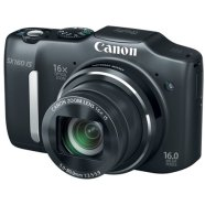 "Canon PowerShot SX160 IS Black, 16.0 Mpixel/ 16x optical zoom/ wide-angle (28 mm) lens /Intelligent IS/ Smart Auto/ 3.0"" LCD/ HD movies/ DIGIC 4/ 2x Size-AA batt."