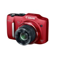 "Canon PowerShot SX160 IS Red, 16.0 Mpixel/ 16x optical zoom/ wide-angle (28 mm) lens /Intelligent IS/ Smart Auto/ 3.0"" LCD/ HD movies/ DIGIC 4/ 2x Size-AA batt."