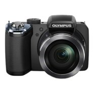 "Olympus SP-820UZ Black, 14.0MPixels, 40x wide optical zoom, iHS, 30 fps, 3.0"" LCD, HD Movie, HDMI Control, Smart Panorama, AA batt., SD/SDHC/, Eye-Fi Card compatibility"