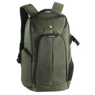 Vanguard 2GO 46GR Backpack Green/ Unique cushioned bottom / Large and ergonomic main access / Front pocket for lens cap and accessories / Water bottle holder on side / Belt loop