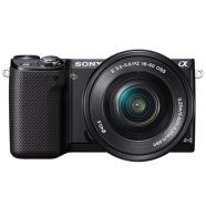 "Sony NEX-5RY Black with double Kit 16-50mm lens + SEL 55-210mm lens, 16.1MP, 3.0"" tiltable touchscreen LCD, Live View, Full HD movie, 25 points AF, Wi-Fi"