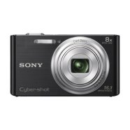 "Sony DSC W730 Black / 16.1 megapixels/ Carl Zeiss® lens/ 8x optical zoom/ Optical SteadyShot/ 2.7""(6.7cm) LCD/ BIONZ/ Media: memory Stick Duo, Memory Stick, Memory Stick PRO Duo, SD/SDHC/SDXC ), Li-Ion batt."