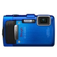 "Olympus TG-830 Blue, Waterproof / Shockproof/ Freezeproof/ crushproof, 16.0MPixels backlit CMOS , 5x wide optical zoom, Dual IS, 3.0"" LCD, FHD Movie, Panorama, HDMI, Li-Ion batt., SD/SDHC/SDXC"