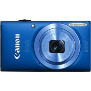 "Canon Digital IXUS 132 Blue, 16.0Mpixel CMOS/ DIGIC 4/ 24mm wide/ 8x optical zoom/ Intelligent IS/ ISO 1600/ 2.7"" Quick-bright LCD/ Full HD/ High-speed shooting/ Supports SD/SDHC/SDXC/  Li-ion Batt."