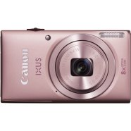 "Canon Digital IXUS 132 Pink, 16.0Mpixel CMOS/ DIGIC 4/ 24mm wide/ 8x optical zoom/ Intelligent IS/ ISO 1600/ 2.7"" Quick-bright LCD/ Full HD/ High-speed shooting/ Supports SD/SDHC/SDXC/  Li-ion Batt."