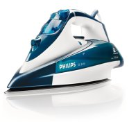 PHILIPS GC4410/02 Steam Iron, Blue color, 2400W, SteamGlide soleplate, Steam boost 130g (40 g/min), 3m cord, Extra-large water tank 350ml, Double Active Calc System, Drip-stop system