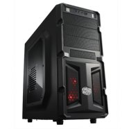 Cooler Master K(night) 350, Midl tower, black, RED LED fan, with window, with USB 3.0 , black inside,  w/o PSU, mATX / ATX