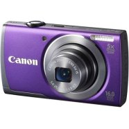 "Canon PowerShot A3500 Purple, 16.0 Mpixel/ 5x optical zoom/ 28mm wide/ Optical IS/ 3.0"" LCD/ HD Movies with Dynamic IS/ ISO 1600/ Smart Auto/  Live View Control/ Creative Filters/ Supports SD/SDHC/SDXC/ Li-ion batt."