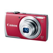 "Canon PowerShot A2600 Red (+bag + 4GB SDHC card), 16.0 Mpixel/ 5x optical zoom/ 28mm wide/ 2.7"" LCD/ HD Movies/ ISO 1600/ Smart AUTO/ Digital IS reduces/ Live View Control/ Supports SD/SDHC/SDXC/ Li-ion batt."