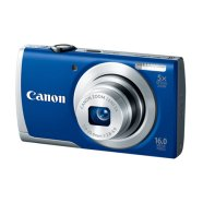 "Canon PowerShot A2600 Blue (+bag + 4GB SDHC card), 16.0 Mpixel/ 5x optical zoom/ 28mm wide/ 2.7"" LCD/ HD Movies/ ISO 1600/ Smart AUTO/ Digital IS reduces/ Live View Control/ Supports SD/SDHC/SDXC/ Li-ion batt."