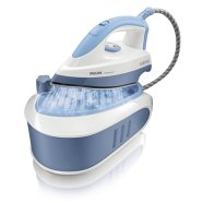 Philips GC6510/02 Pressurised steam generator with Up to 4 bars steam pressure and Non-stick soleplate, Constant steam 95 g/min, Soleplate Non-stick, Cord 1,8m, White/blue