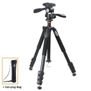 Vanguard ALTA+ 264AP Tripod + Head (Aluminum alloy) / Ultra lightweight / Compact / Enables low-angle photography / Quick-flip leg locks