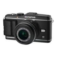 Olympus E-P3 black + EZ-M1442 II R black Kit  - incl. Charger+Battery