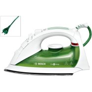 BOSCH TDA 5650 Steam Iron, White/Green color, 2400W, Palladium-Glissee soleplate, Steam boost (120/40 g/min), 2m cord, Extra-large water tank 300ml, AntiCalc System, Drip-stop system, Auto Secure,''e''steam