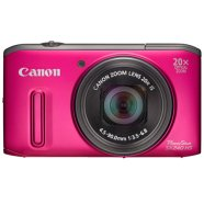 "Canon PowerShot SX240 HS Pink, 12.1 Mpixel/ 20x optical zoom/ 25mm wide/ Intelligent IS/ 3.0"" LCD/ Full HD Movies/ ISO 1600/ Smart Auto/ Supports SD/SDHC/SDXC/ Li-Ion batt."