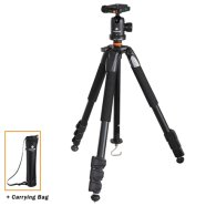 Vanguard ALTA+ 234AB Tripod + Head / Ultra lightweight / Compact / Enables low-angle photography / Quick-flip leg locks