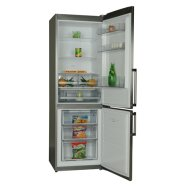 VestFrost CW682 NF X  NoFrost Refrigerator/A+/ 185x60x63cm/ Fridge 237L/ Freezer 98L/ NoFrost/Display/ FreshZone/LED Lamps/ 3 shelves/3 drawers//INOX