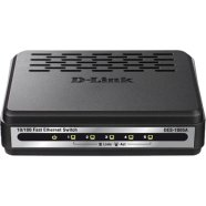D-LINK DES-1005A, 5-port UTP 10/100Mbps Auto-sensing, Stand-alone, Unmanaged, Palm-top Fast Ethernet Switch, External Power supply included, Plastic case