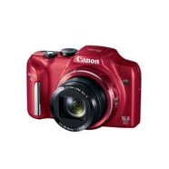 "Canon PowerShot SX170 IS Red, 16.0 Mpixel/ 16x optical zoom/ wide-angle (28 mm) lens /Intelligent IS/ Smart Auto/ 3.0"" LCD/ HD movies/ DIGIC 4/ 2x Size-AA batt."