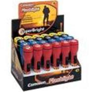 Camelion F2AAD24 plastic Classic Flashlights Display Box (24 pcs), bulb type: vacuum, Voltage/Ampere: 2.4V/500mA, without batteries (2xAA), colours available: red, yellow, blue, black (dimensions: 143 x 36mm)