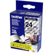 Brother TZ-151 24mm Black on Clear P-Touch Label