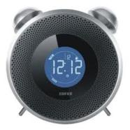 Edifier MF240 Tick Tock/ Alarm Clock Speaker System with SD/ USB/ AUX/ FM Radio/ 7W RMS/ Black