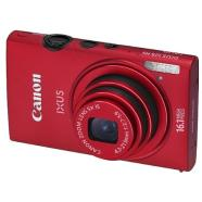 "Canon Digital IXUS 125 HS Red, 16.1Mpixel/ 24mm wide/ 5x optical zoom/ ISO 3200/ 3.0"" PureColor II G LCD/ HD movie/ DIGIC 5/ Supports SD/SDHC/SDXC/  Li-ion Batt./ Metal body"