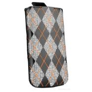 SENA CASES Argyle for iPhone 4/4S (Black/Orange)