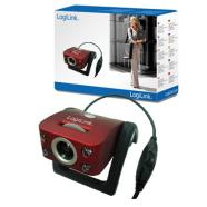 Logilink USB Webcam with LED & Microphone, and snap shot; Specifications • Interface: USB1.1/2.0 Compatible • Built-in microphone • Easy installation Plug and Play • Effective pixels: 1300K Pixels • Max Resolution: 1280 x960 • Color depth: 24-bit RGB, true color • Max Frame Rate: 30fps • Lens view angle: 54 • Manual Focus • Focus range: 5cm to infinity • 5 glass high quality 2G lens • White Balance: Auto • Automatic color compensated • 4 LED's