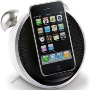 Edifier iF230 Tick Tock Dock White/ Alarm Clock Docking Station with FM Radio and Apple iPod and iPhone Input