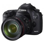 "Canon EOS 5D Mark III EF 24-105, 22.3Mpixels, 6fps, 61 AF points, Live View, 3.2"" LCD, ISO 100 (H1:25600) (H2: 102400), Full HD movie, 14-bit DIGIC 5+ processor, HDR mode, Weather sealing,  Li-ion Batt."