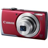 "Canon PowerShot A2500 Red, 16.0 Mpixel/ 5x optical zoom/ 28mm wide/ 2.7"" LCD/ HD Movies/ ISO 1600/ Smart AUTO/ Digital IS reduces/ Live View Control/ Supports SD/SDHC/SDXC/ Li-ion batt."