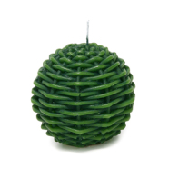Küünal ROTANG pall D7.5xH7.7cm, roheline