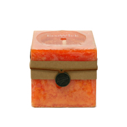Küünal ECOWICK 7.5x7.5xH7.5cm, oranz