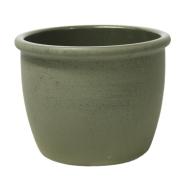 Lillepott SIAM-1 D34x27cm oliiviroheline, randiga