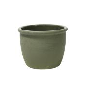 Lillepott SIAM-4 D16x13cm oliiviroheline, randiga