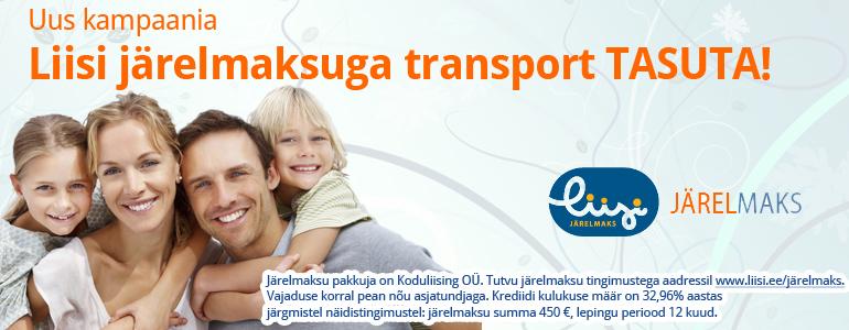 Liisi järelmaksuga transport TASUTA!